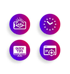 time augmented reality and web tutorials icons vector image