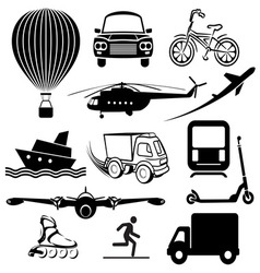 transport icons1 vector image vector image