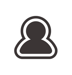 user profile icon in trendy flat style isolated on vector image