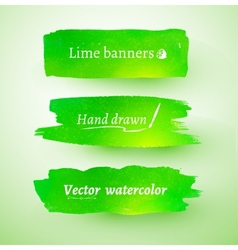 Watercolor banner vector image
