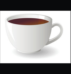 white cup tea vector image
