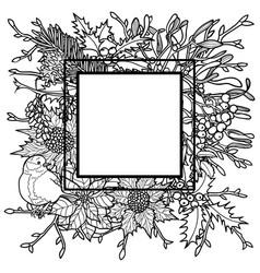 winter outline frame vector image