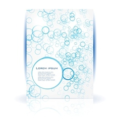 abstract water and circle blue vector image vector image