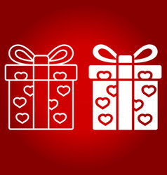 love present line and glyph icon vector image