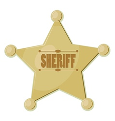 Sheriff Star vector image vector image