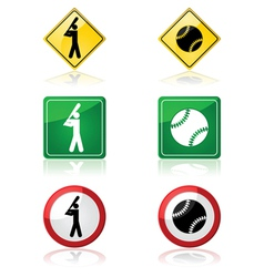 Baseball signs vector image