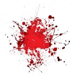 blood splat splat vector image vector image