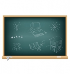drawing with chalk vector image vector image