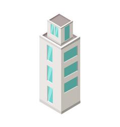 isometric city building isometry vector image