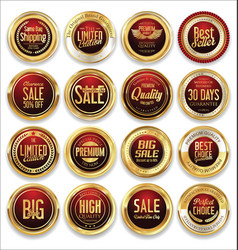 luxury retro badge and labels collection 03 vector image vector image