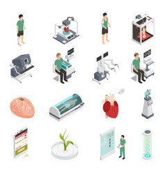 medicine future technology icons vector image vector image