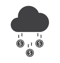 money rain icon vector image vector image