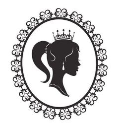Princess in the frame vector image vector image