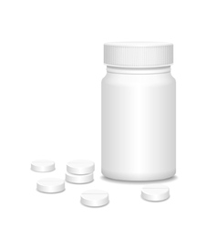 Blank medicine bottle with pills vector image