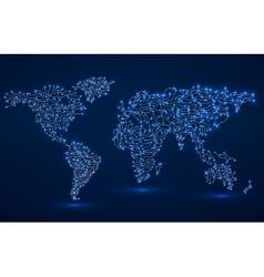 World map circuit board vector