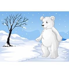 A polar bear freezing vector