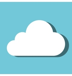 cloud computing symbol isolated vector image