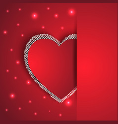 hearts shape romantic greeting card vector image