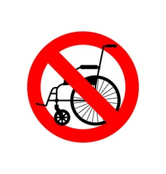 Stop wheelchair Prohibited disability Ban for vector image vector image