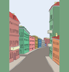 street of old city vector image