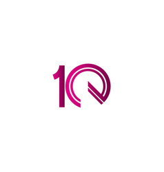 10 years anniversary celebration purple line vector