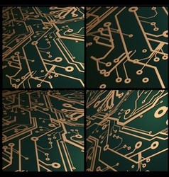 3D Circuit Board Background vector image