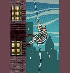 A prisoner escapes from prison jailbreak vector