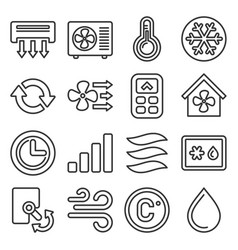 Air conditioner icons set on white background vector
