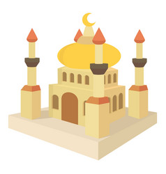Arabic town icon cartoon style vector