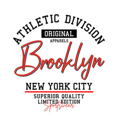 athletic brooklyn typography sports vector image