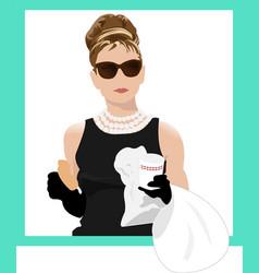 Audrey Hepburn Holly Golightly vector