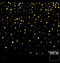 background with gold stars confetti celebration vector image