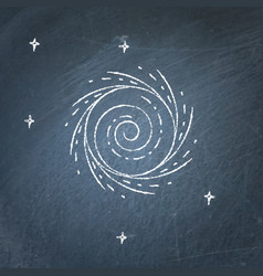 Black hole icon on chalkboard vector