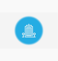 building icon sign symbol vector image