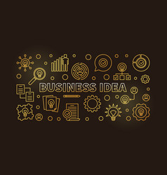 business idea concept golden outline vector image