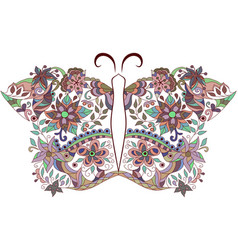butterfly- colorful zentangle design vector image