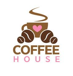 coffee house cafeteria or cafe icon vector image