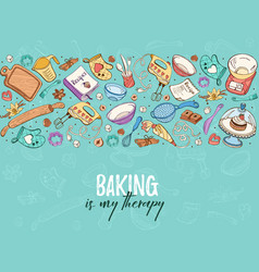 cooking time poster vector image