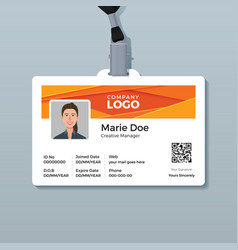 Corporate id card template with modern abstract vector