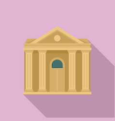 courthouse institution icon flat style vector image