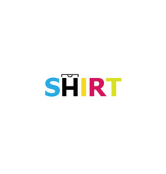 Creative colorful unique tee shirt design logo vector