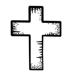 cross doodle vector image