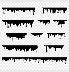 dripping liquid drops melting paint blobs vector image