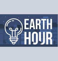 Earth hour banner vector