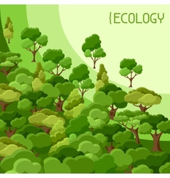 Ecology background design with abstract stylized vector image