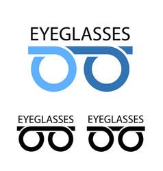 Eyeglasses simple symbol vector