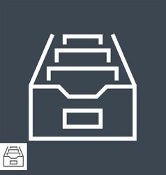 file cabinet thin line icon vector image