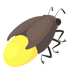 Firefly bug icon cartoon style vector