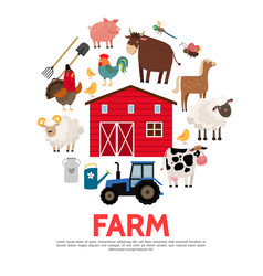 flat agriculture and farming concept vector image