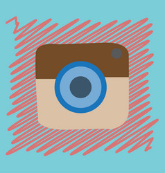 flat web icon of modern lineart camera digital vector image